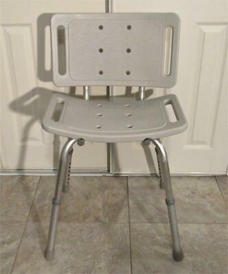 Guardian Shower Mobility Chair Seat Double Safety Handles Fully Adjustable Legs