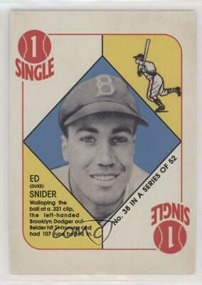 2019 Topps Iconic Card Reprints #ICR-40 Duke Snider Brooklyn Dodgers Baseball