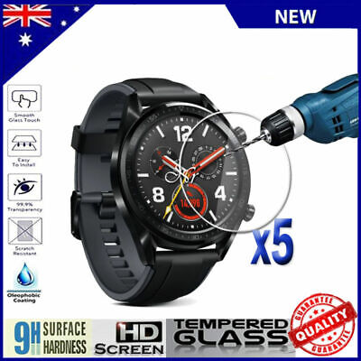 5x Scratch Resist Tempered Glass Screen Protector Film Guard For Huawei Watch GT