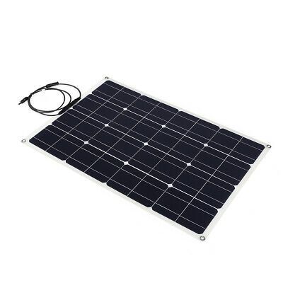100W 18V 5A Solar Panel Monocrystalline MC4 Line Camping Hiking Cycling Travelin