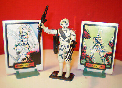1988 GI JOE Cobra Storm Shadow Arashikage Clan Ninja 100%+ Cards Vintage  Arah **