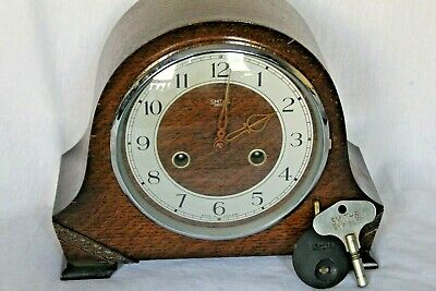 Smith Enfield Bakelite Mantle Clock with Pendulum & Key - Vintage Clock