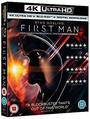 FIRST MAN 4K UHD 1 Disc With Slip Case.. No 2D & UV read description first!!