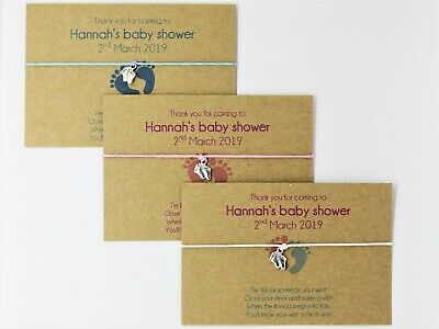 Baby shower party favours. Boy & girl. Gifts to guests Wish bracelets Friendship