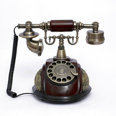 Vintage Antique Style Rotary Phone Fashioned Retro Handset Old Telephone Home Of