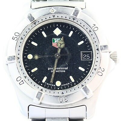 16c82480d8d6 AUTHENTIC ESTATE TAG Heuer Professional stainless steel wristwatch -   249.00