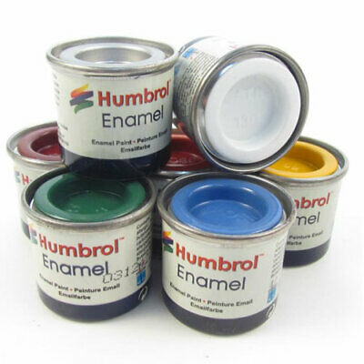 Humbrol - 14ml Enamel Model Paint - All Colours - Matt, Gloss, Satin, Metallic