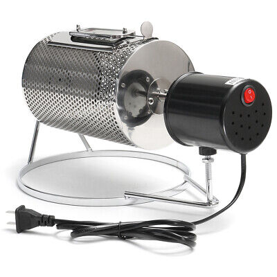 Stainless Steel Coffee Bean Roasting Machine Coffee Roaster Roller Baker 220V To