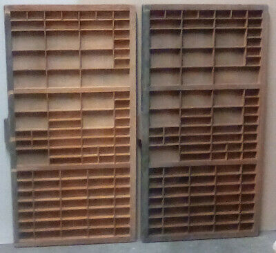 Vintage printers drawer wooden type cases (Two)