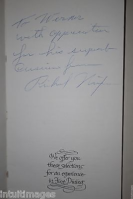 RICHARD NIXON INSCRIBED SIGNED MENU GOLDEN LION OLYMPIC WESTERN HOTEL Seattle