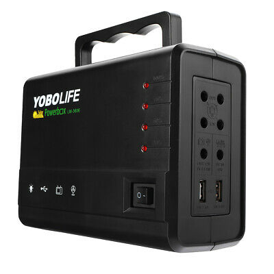 YOBOLIFE 18W Solar Panel Portable Solar Powered System Power Generator with 4 LE