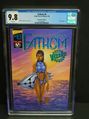 Image Top Cow-Wizard Comics Fathom #0 1998 Cgc 9.8 White Pages