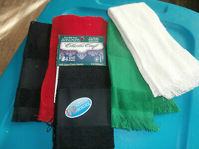 5 Hand Towels by Charles Craft with xstitch insert to personalize