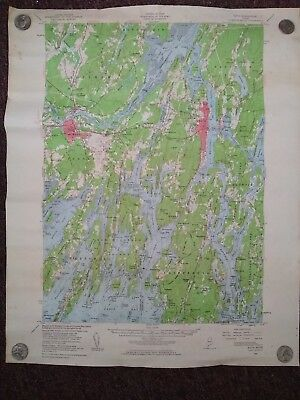 Vtg.Topographical Map Bath, Maine 1957