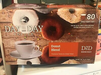 FREE SHIPPING!! Day to Day Coffee 70 Count Single Cups Donut Blend