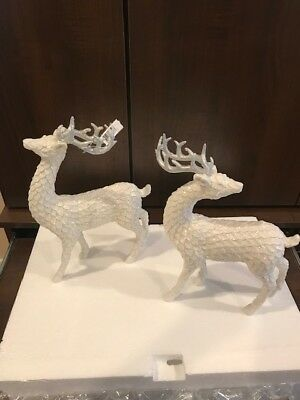 Lenox  Frosted Deer Figurines (NEW) American by Design