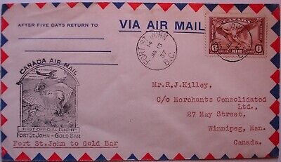 Canada: 1937 4x First & Special Flights. 1