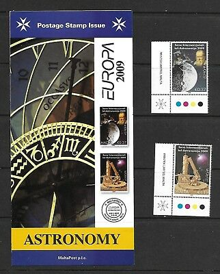 Malta ( Europa ) Astronomy 2009 Set of 2 Stamp Mint Never Hinged