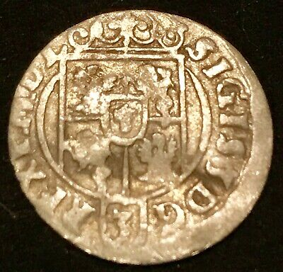 the rare 1623 SILVER Coin Ancient Pirate Chest Era Old Europe from Collection US