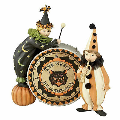 Bethany Lowe Vintage Style Circus Halloween Drummers Figurine Home Decoration
