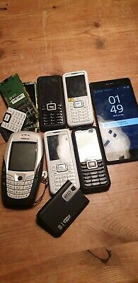 Job Lot Of Old Used Mobile Phones, In Various Conditions
