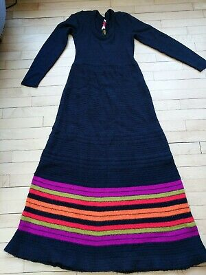 Vintage Sweater Dress Long Maxi Size 6 8 Womens Caron Chicago