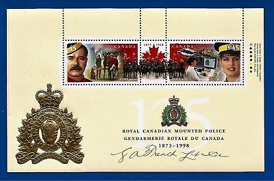 "CANADA Canadian .45 cent postage stamps souvenir 4"" X 6"" sheet RCMP MNH"