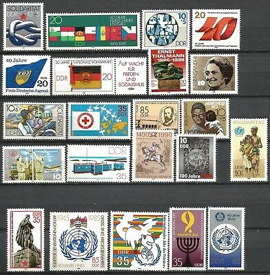 Germany (East) DDR GDR 1984-1990 - Collection MNH Stamps single issues