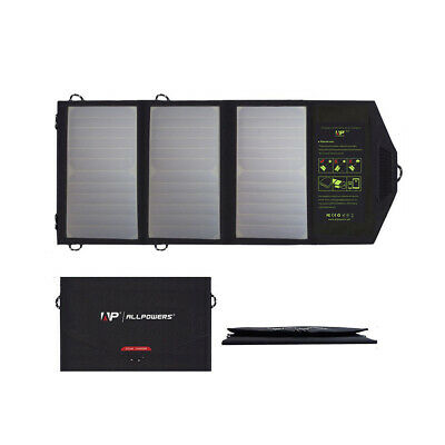 ALLPOWERS 5V 21W Portable Solar Charger Sun Power Solar Panel Power Bank Charger
