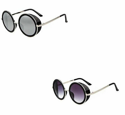 92cd74f3caad Cyber Goggles Vintage Retro Blinder Steampunk Sunglasses 50s Round Glasses