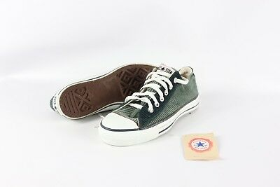 7e1a8cef5d1 Vintage 90s New Converse Mens 6 Womens 8 Chuck Taylor Corduroy Shoes Green  USA