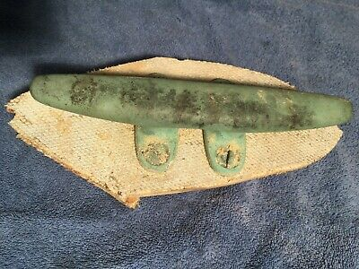 """9"""" Solid Bronze sailboat cleat. From sailboat. Antique or use on your boat."""