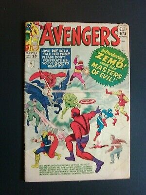Avengers #6 July 1963, Marvel Silver Age