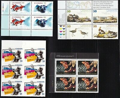 Canada 2002, 2005, 2006 3 Blocks +6 Booklet Stamps Mnh