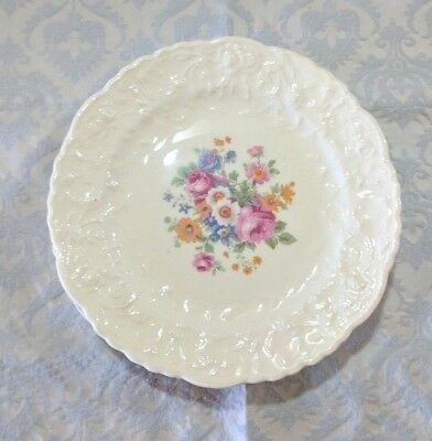 Pope Gosser Rose Point Center Floral Bread Plate  - Circa 1920's