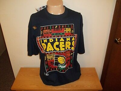 Vtg UNWORN WITH TAGS LOGO 7 NBA INDIANA PACERS T-SHIRT Size XL
