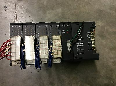 General Electric IC610CHS100A Rack W/ Power Supply Series 1 And Modules 5 Slot