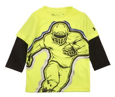 Under Armour Infant Boys Hi Vision Yellow Football Player Dry Fit Top Size 18M