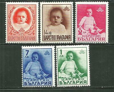 Bulgaria 336-40 Mnh First Birthday Of Prince Simeon