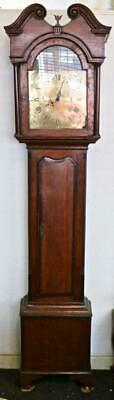 Antique Early 1800's English 30 Hour Longcase Grandfather Clock in Oak