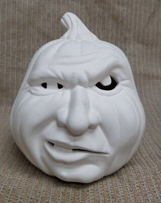 Ceramic Bisque Small Snarly Pumpkin Scioto Mold 1729 U-Paint Ready To Paint