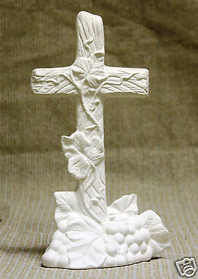 Ceramic Bisque Grape Cross CPI Mold 3377 U-Paint Ready To Paint