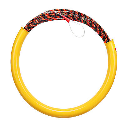 30M 6mm Snake Cable Push Puller Fish Tape Reel Conduit Ducting Rodder Pulling Pu