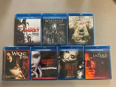 Blu-ray lot New Free Ship Curse Chucky Werewolf Exorcism Wrong Turn Fright Night