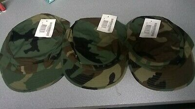 NEW US Army Military Woodland CAMO HOT WEATHER Field Cap   Hat LARGE 7 5  94e106f1deb1