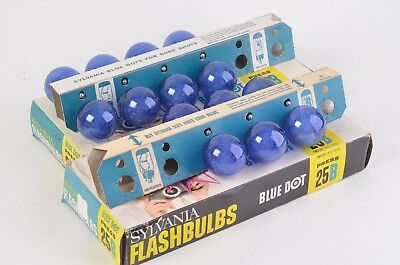 New Sylvania 25B Blue Flashbulbs, Total Of 14