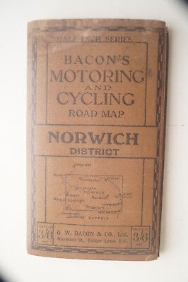 Bacon's Motoring and CyclingMap - Norwich and District