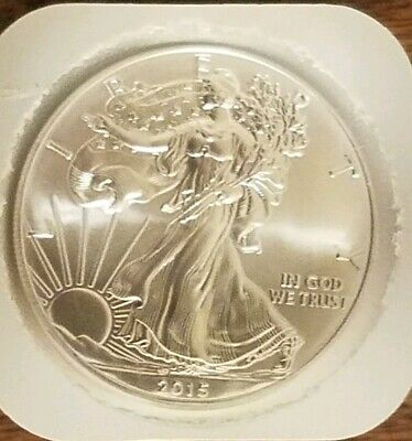 2015 Roll of 20 American Silver Eagle ($1)  BU 1 Oz. Coins in Mint Tube
