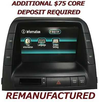 REMAN 2004 2005 Toyota Prius MFD Multi Information Display 86110-47081 EXCHANGE