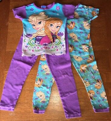 DISNEY FROZEN Anna Elsa GIRLS 4 PC Mix & Match  PAJAMA SET Size 8